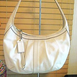 Coach Ergo Bag 12235 beige leather hobo bag